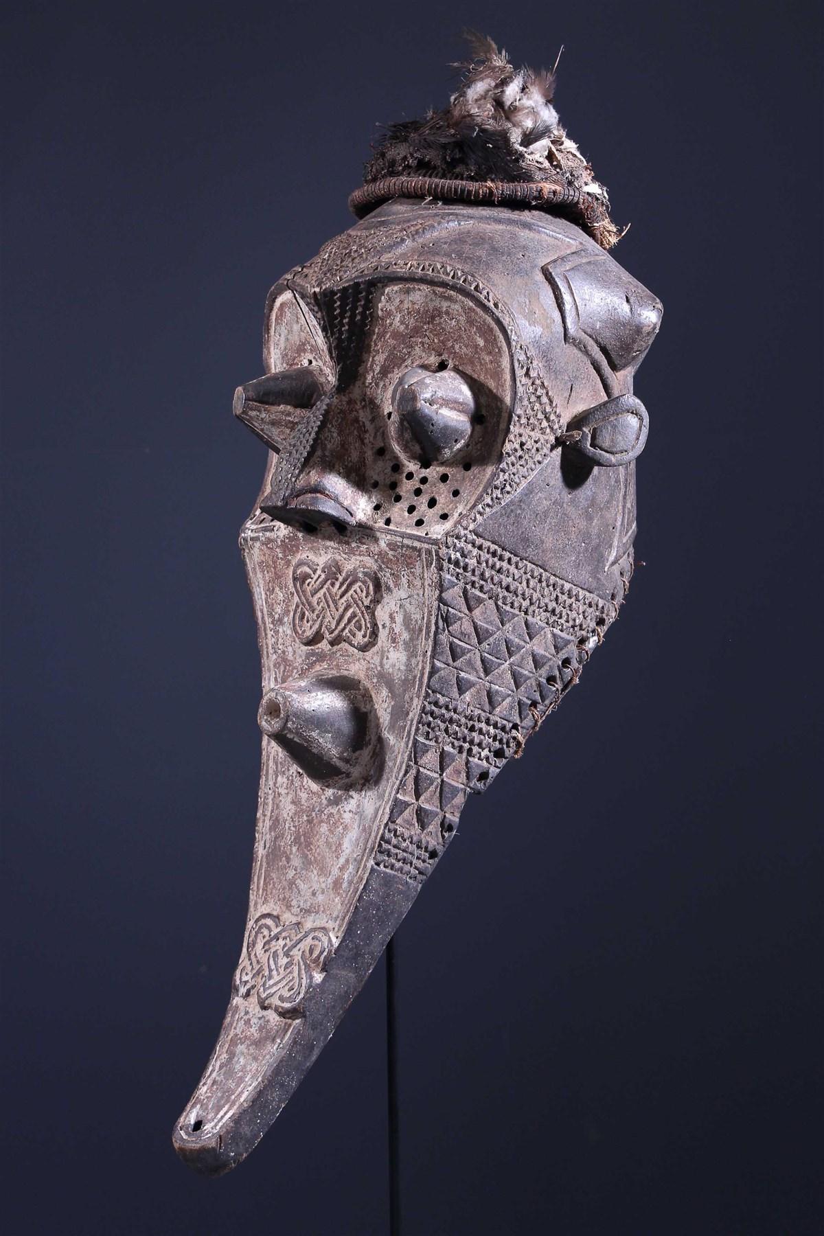 Funeral Mask Inhuba Kabongo Kuba - Tribal art