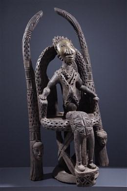 Dignitary Bamoun on his throne