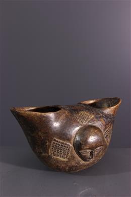 Tribal art - Double ritual cut Suku, Kopa