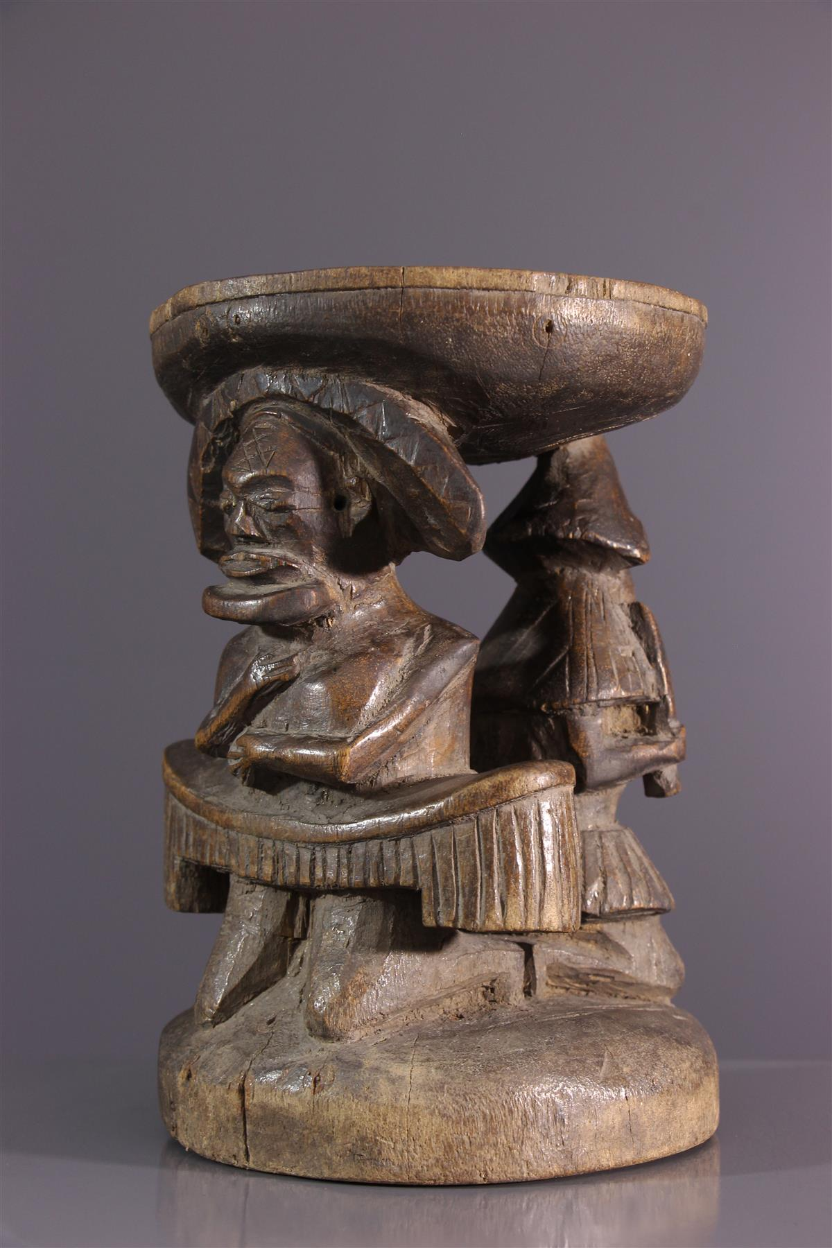Tabouret Chokwe - Tribal art