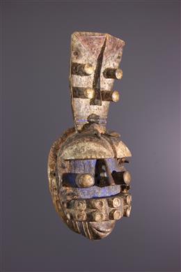 Tribal art - Masque facial Kru / Grebo polychrome
