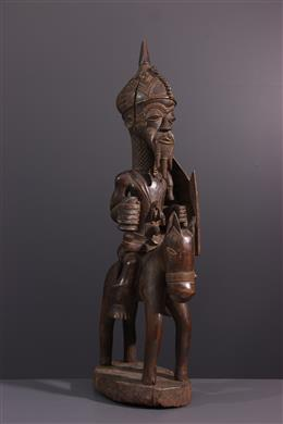 Tribal art - Lulua rider figure