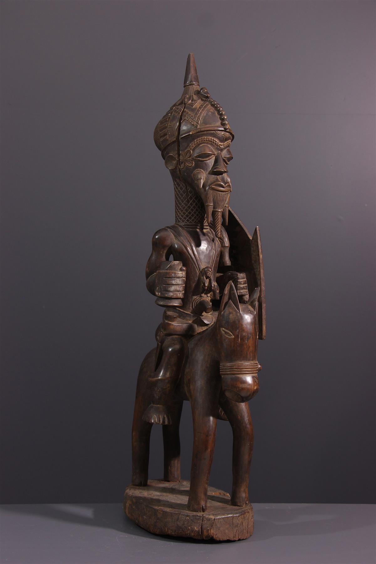 Cavalier Lulua - Tribal art