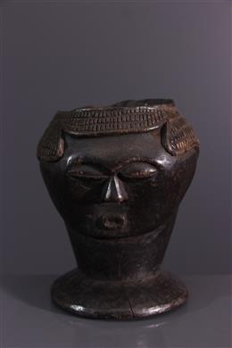 Tribal art - Coupe céphalomoprhe Lele, Bashilele