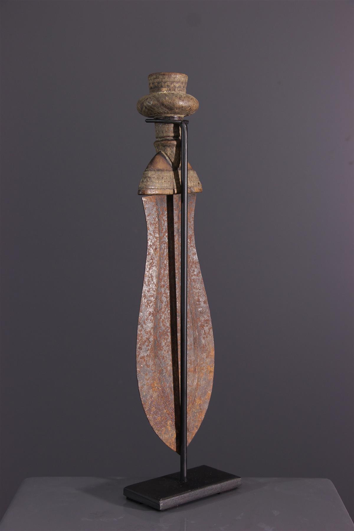 Ikula Knife (16899) - Usual african items Kuba - Tribal art