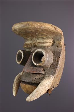 Guéré mask with a mobile jaw