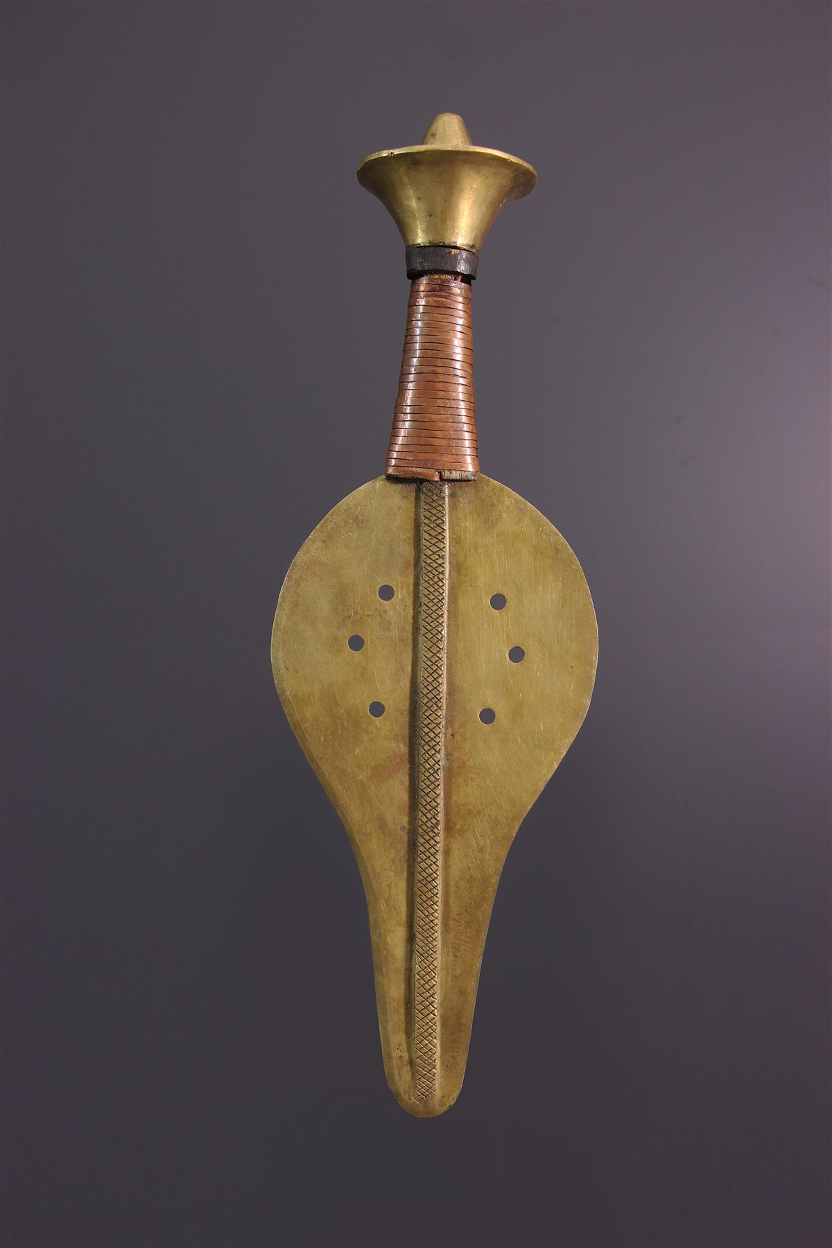 Ikula Knife (17166) - Usual african items Kuba - Tribal art