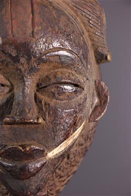 Tribal art - Black mask Punu Ikwara