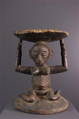 Tribal art - Luba Lupona Caryatide Seat