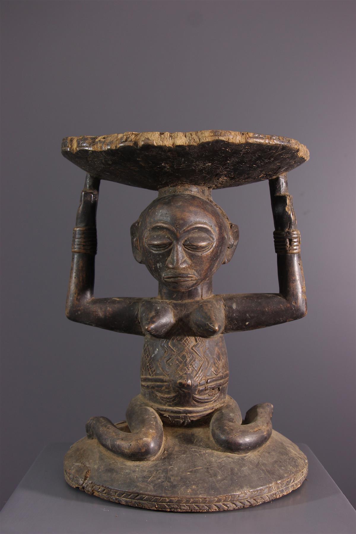 Tabouret Luba - Tribal art