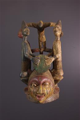 Yoruba Nago mask of the Gelede cult