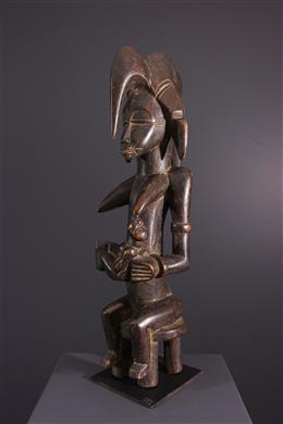 Tribal art - Maternity figure Senoufo Tugubele