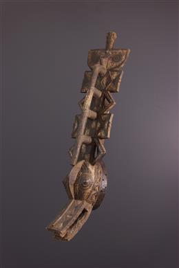 Tribal art - Gurunsi vertical plank crest mask