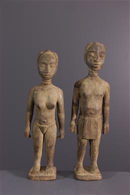 Couple of statuettes Ewe Venovi