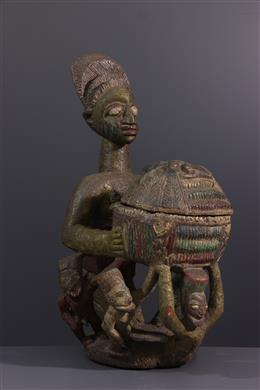 Tribal art - Yoruba polychrome cut carrier