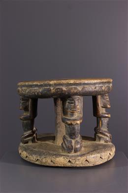 Dogon stool with caryatids
