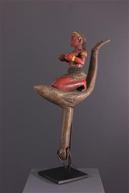 Tribal art - Baga figurative sceptre