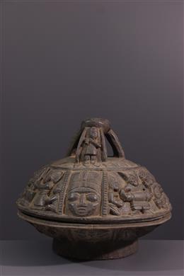 Tribal art - Ritual cup Igbadù Ifa Yoruba