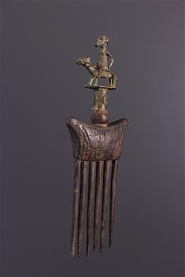 Tribal art - Dogon rider-patterned comb