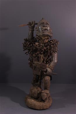 Tribal art - Large statue Kongo Nkondo Nkisi