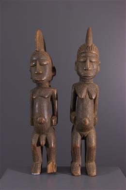 Tribal art - Couple of Lobi Thuna batebas figure