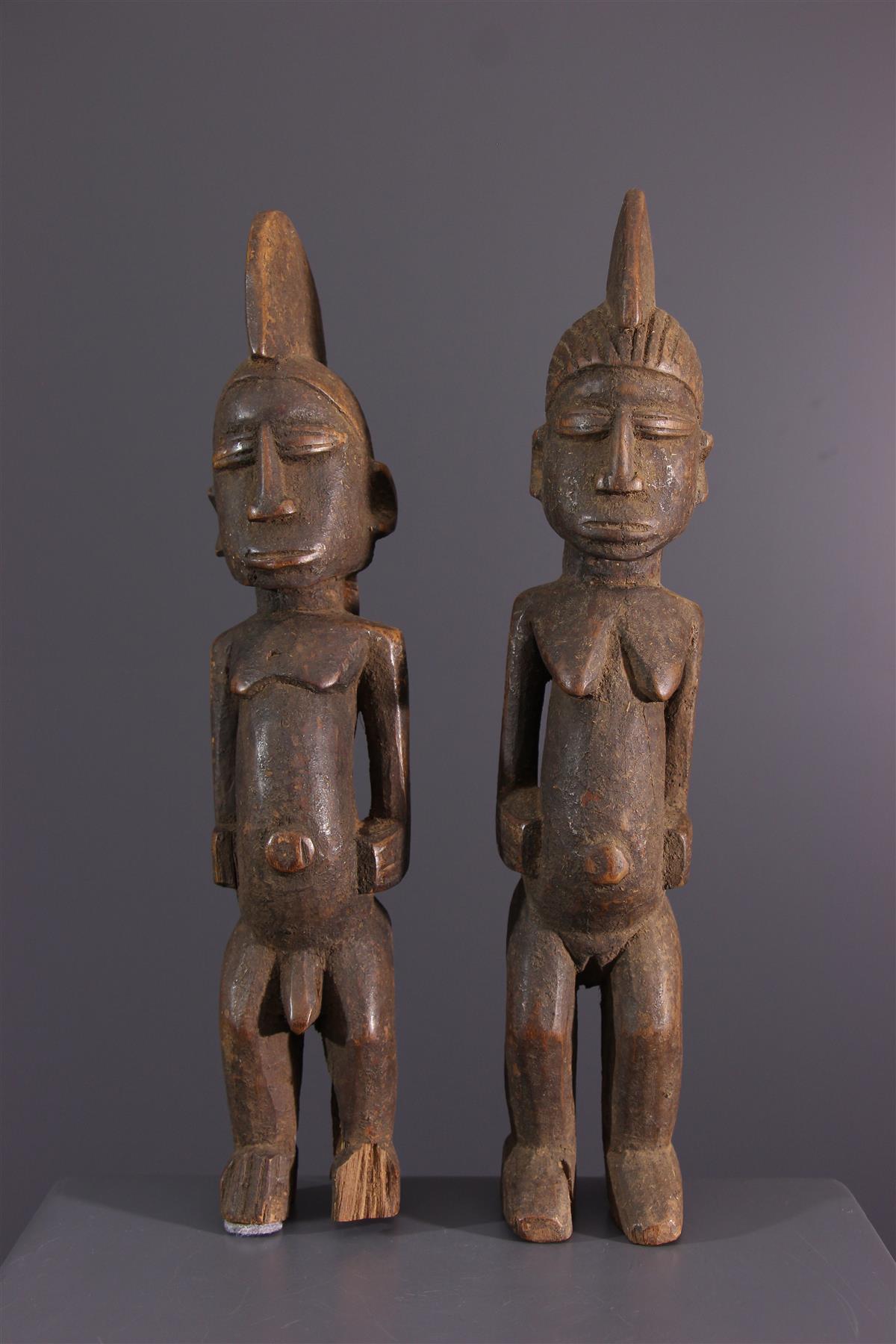 Lobi statues - Tribal art