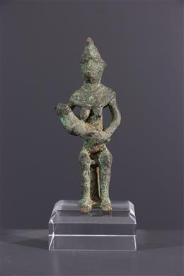 Tribal art - Gan bronze maternity figurine