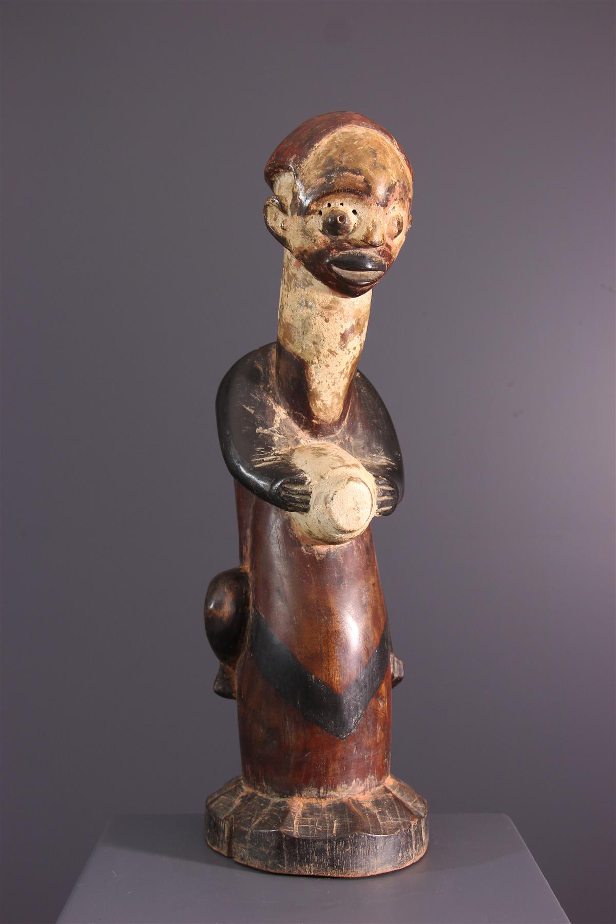 Nkanu tambourine sculpture - Tribal art
