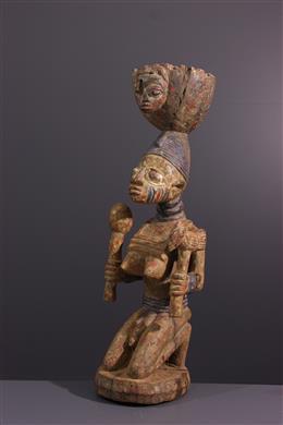 Tribal art - Yoruba Cup Carrier