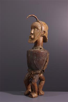 Fetish statue Teke Mpwau janiform