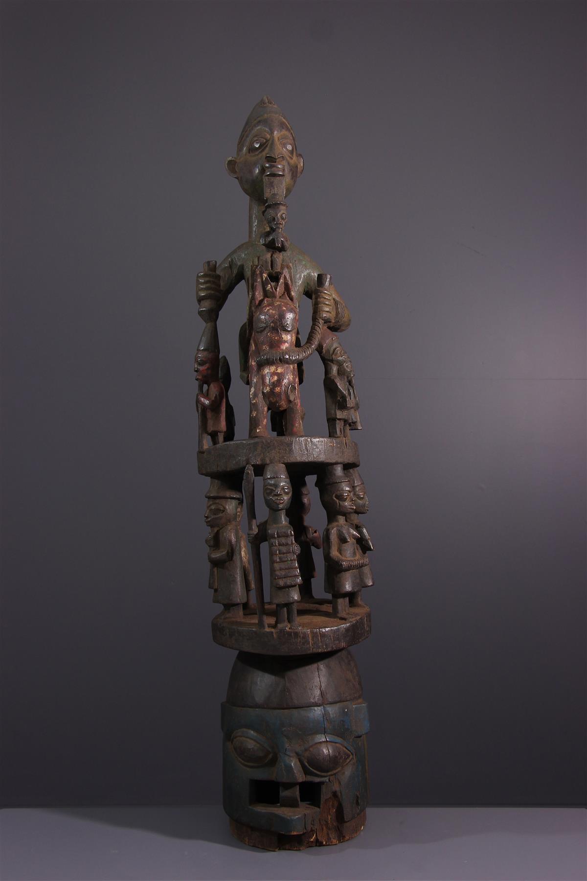 Yoruba Mask - Tribal art