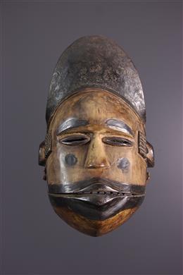 Tribal art - Ogoni Elu Mask, Ekpo, articulated jaw