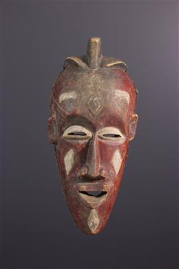 Tribal art - Large Biombo or Luba mask from Kasai