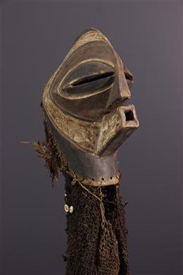 Tribal art - Songye Kifwebe Ndoshi mask and costume