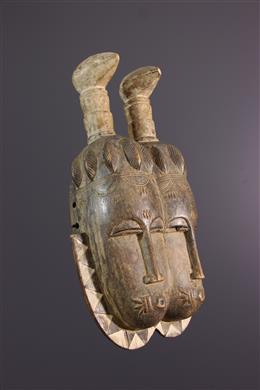 Tribal art - Double Lomane mask Baule/Yaure
