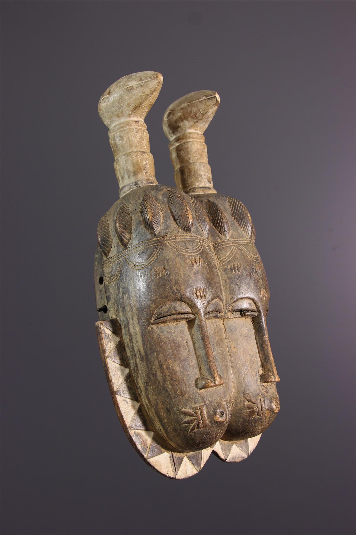 Twins mask - Tribal art