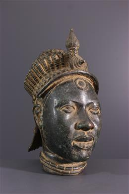 Ifé Yoruba commemorative head in bronze