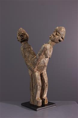 """Tribal art - Lobi Bateba """"foolishness"""" figure"""