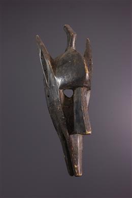 Tribal art - Hyena Bamana face mask