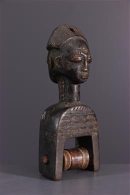 Tribal art - Loom pulley Baule, Baoulé