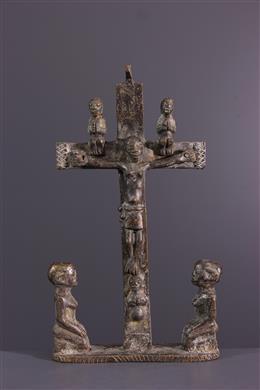 Tribal art - Kongo Nkandi Kiditu Crucifix