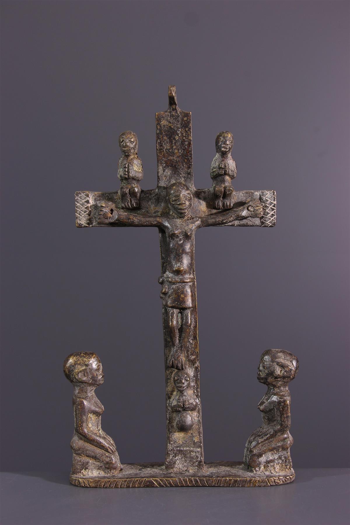 Kongo Crucifix - Tribal art