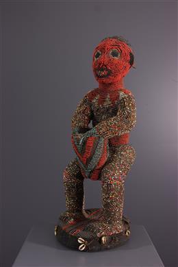 Tribal art - Bangwa NKétuok royal beaded statue