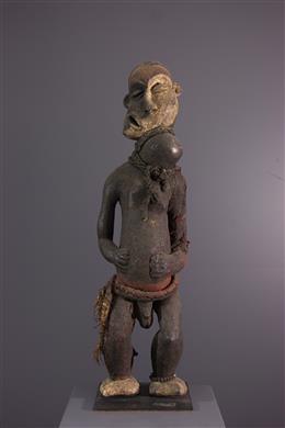 "Tribal art - Pende Nembu ""epileptic"" statue"