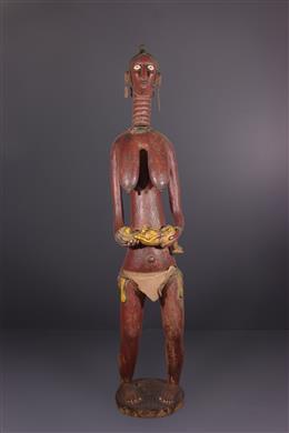 Tribal art - Polychrome Baga maternity statue