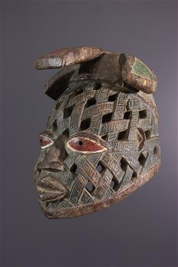 Tribal art - Gelede Yoruba helmet mask