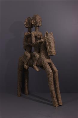 Tribal art - Dogon riders statue