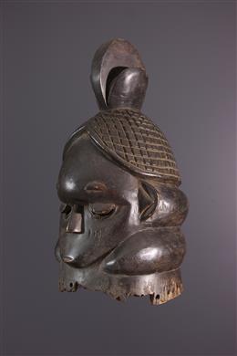 Tribal art - Mende Bundu Sowei mask