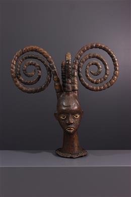 Tribal art - Ejagham Ekoi Crest mask