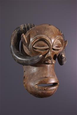 Tribal art - Mukisi a kukaya zoomorphic Luba mask